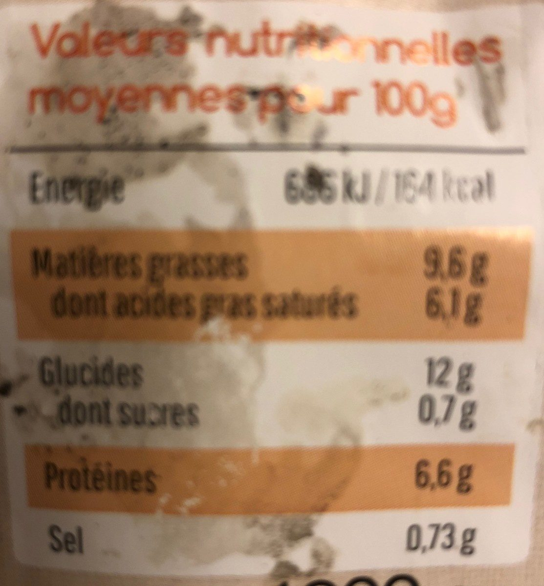 Ma tartiflette - Inhaltsstoffe - fr