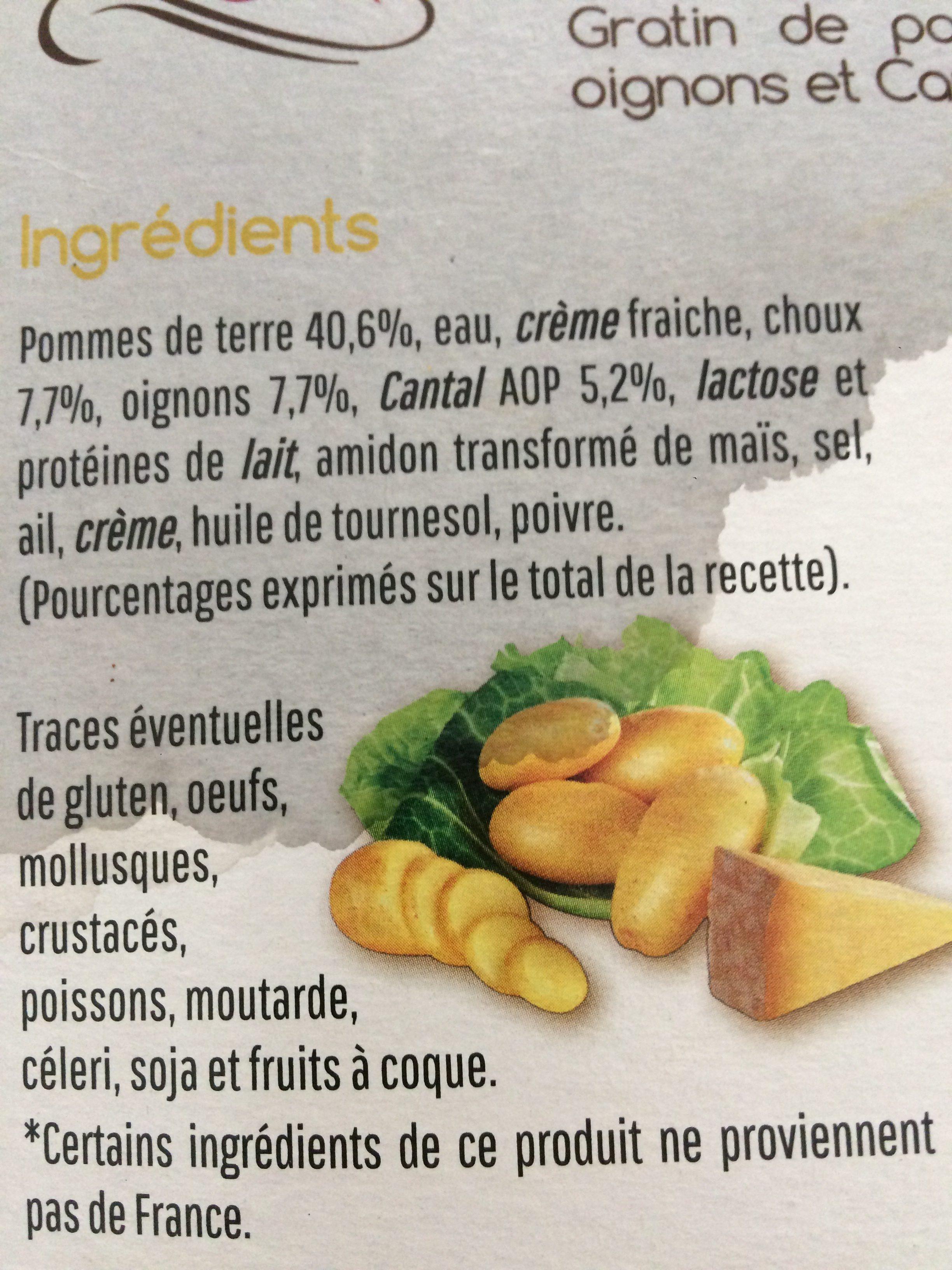 Mon gratin - Ingrediënten - fr
