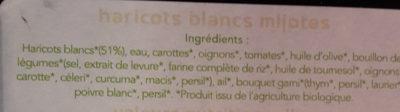 Haricots Blanc Mijoté - Informations nutritionnelles - fr
