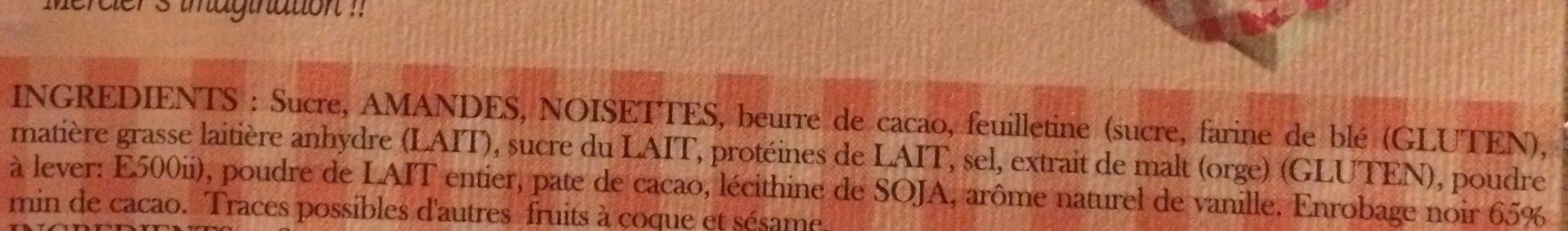 Bérichon: Camembert En Chocolat Gamme - Ingrédients