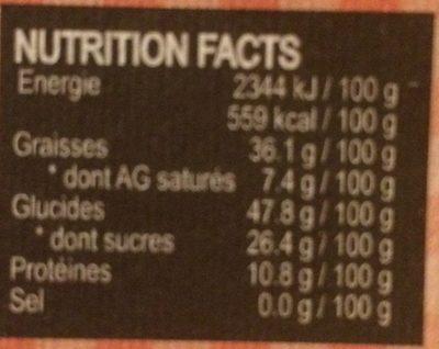 Bérichon: Camembert En Chocolat Gamme - Informations nutritionnelles
