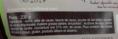 Chocolat chaud à la française - Ingrediënten