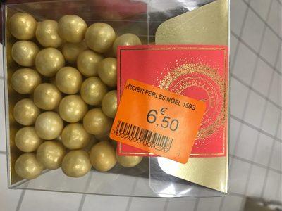 Perles de Noel or chocolat au coeur croustillant - Produit