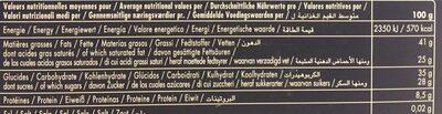 66 Carrés De Chocolat Noir Collection Grands Crus - Voedingswaarden - fr