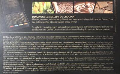 Valrhona - Les Coffret Degustation Grands Crus - Decouverte - Ingrédients - fr