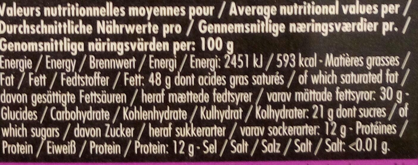 Noir Abinao 85% - Ernæringsfakta