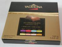 32 Carrés De Chocolat Noir Et Chocolat Au Lait - Dégustation Grands Crus - Produit - fr