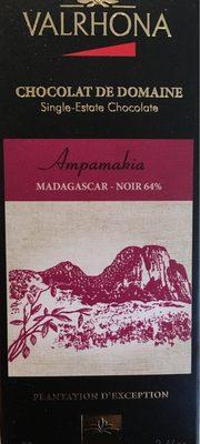Tablette Ampamakia Chocolat Noir De Domaine - Produit - fr