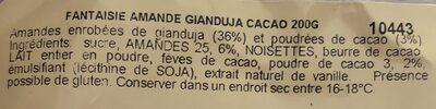 Amande cacao - Ingrédients - fr