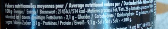 Praliné - Nutrition facts