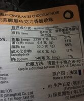 Perles craquantes chocolat noir - Nutrition facts