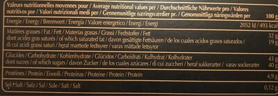 Chocolats fins - Nutrition facts - fr
