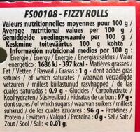 Fizzy Rolls - Informations nutritionnelles - fr