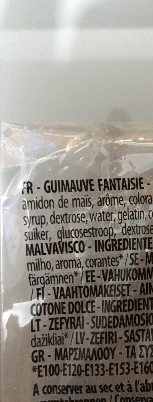 Fizzy Mas Mallow Pop - Informations nutritionnelles