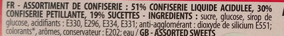 Fizzy sch arrache tete - Ingrédients - fr