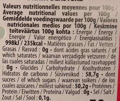 Fizzy sch arrache tete - Informations nutritionnelles - fr