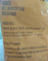 Chips de pommes de terre - Ingrédients - fr