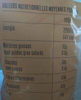 Chips de pommes de terre - Voedingswaarden - fr