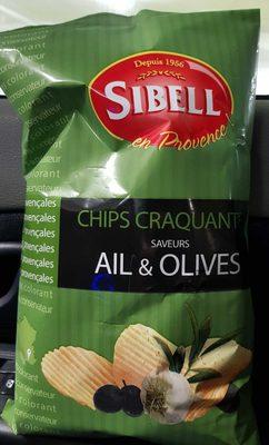 Chips craquantes saveur Ail&olives - Produit - fr