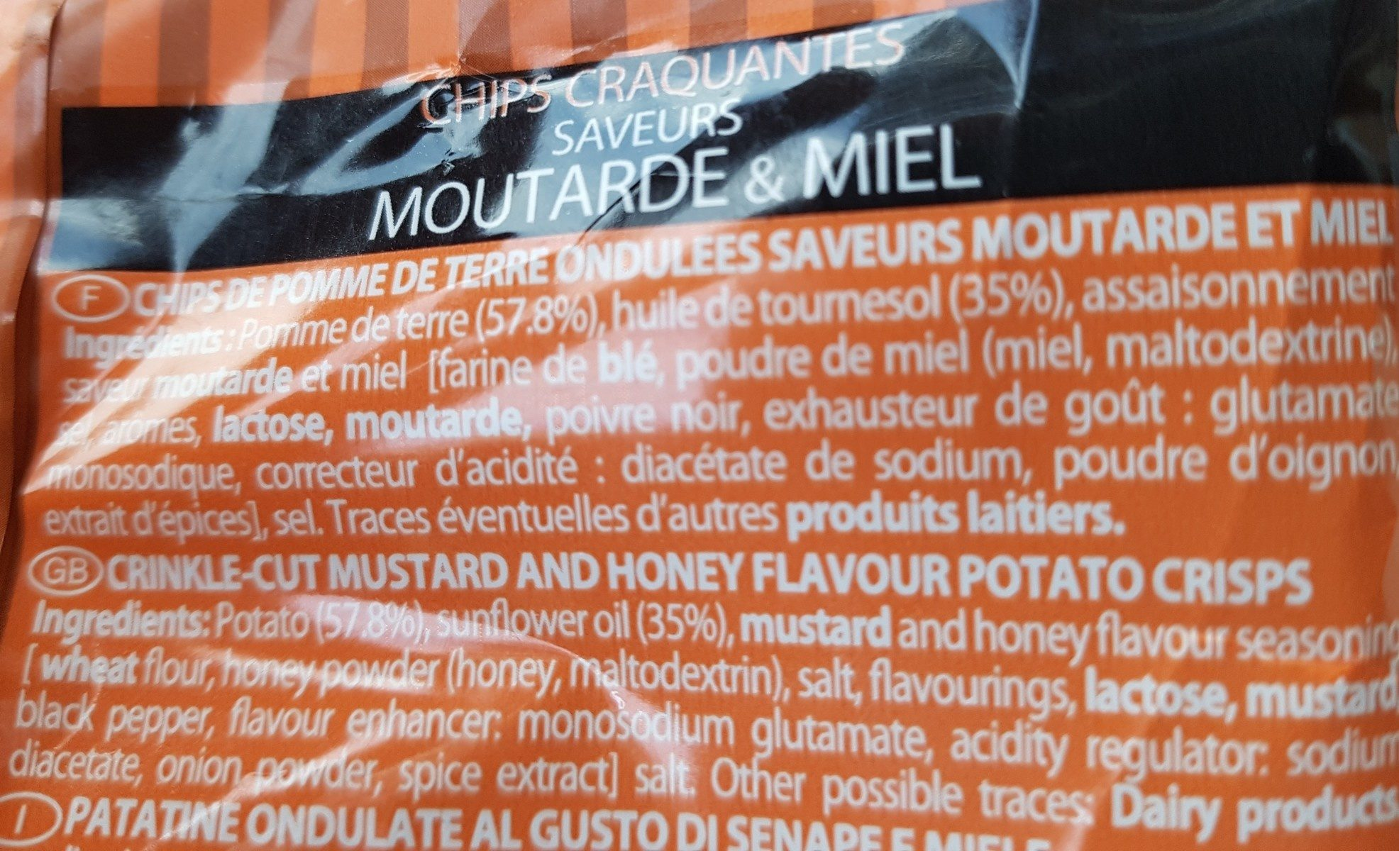 Chips moutard&miel - Ingredients