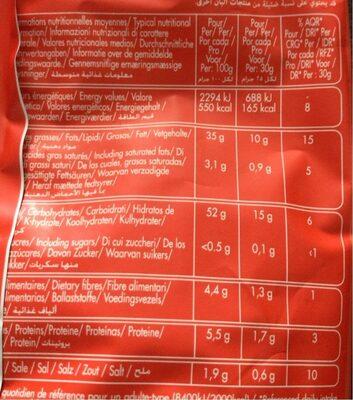 Chips craquantes Moutarde & Miel - Informations nutritionnelles - fr
