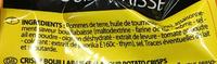 Chips craquantes saveur bouillabaisse - Ingrédients - fr