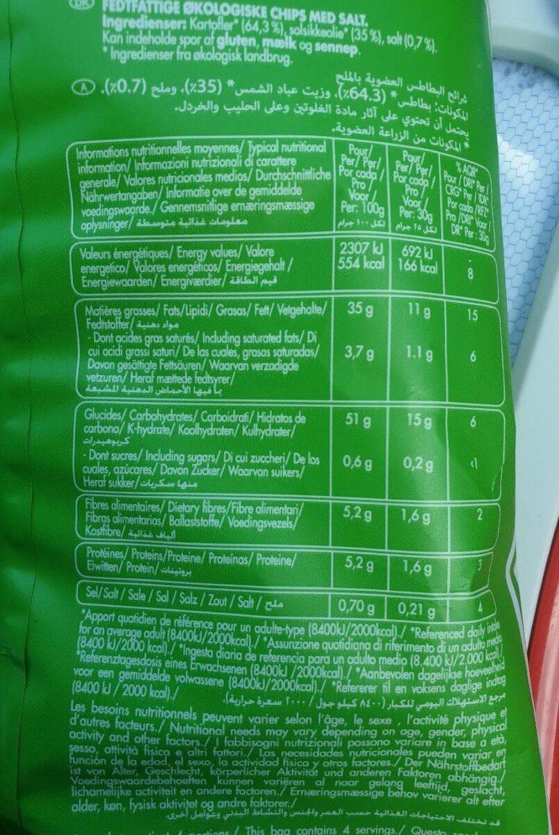 Chips bio - Informations nutritionnelles - fr
