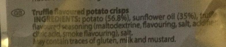 Chips saveur Truffe - Ingredients - en