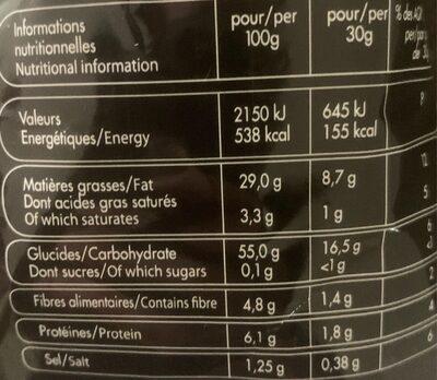Chips Cuites Au Chaudron - Nutrition facts - fr