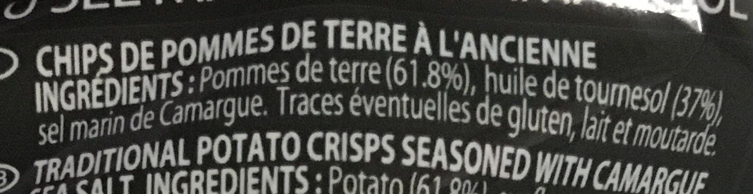 Chips à l'ancienne sel marin de Camargue - Ingrediënten