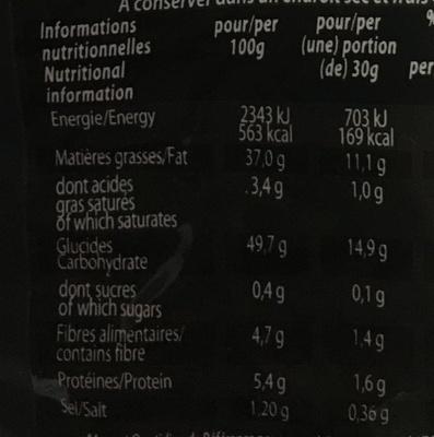 Chips à l'ancienne sel marin de Camargue - Voedigswaarden
