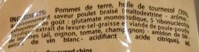 Chips saveur Poulet braisé - Ingrédients - fr