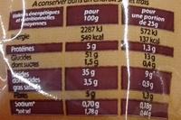 Chips saveur Poulet braisé - Informations nutritionnelles - fr