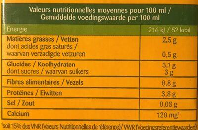 Soja Sélection Doux Calcium - Informations nutritionnelles - fr