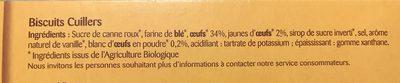 Biscuits à la cuillères - Ingrediënten - fr