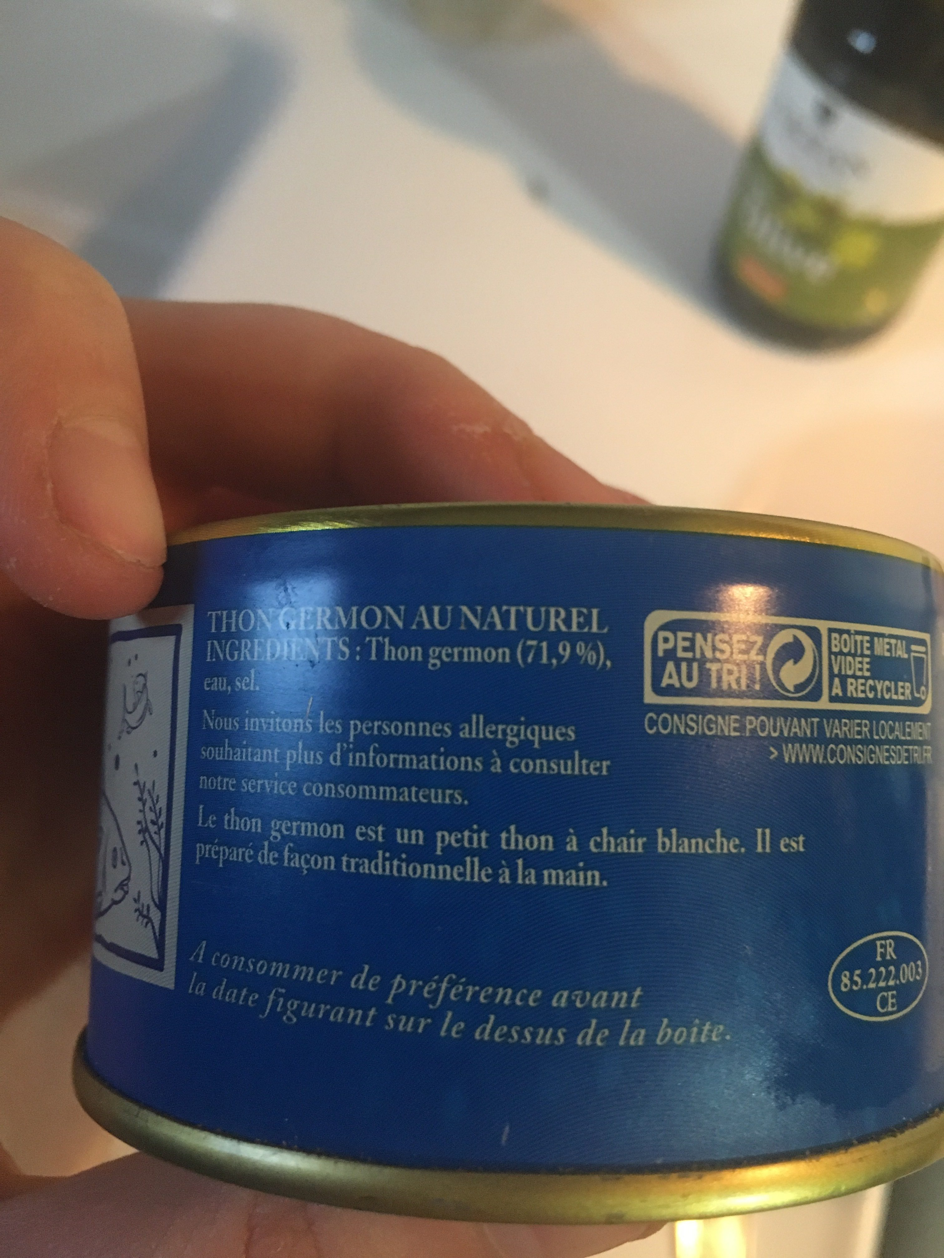 Thon Germon Au Naturel - Ingrédients - fr