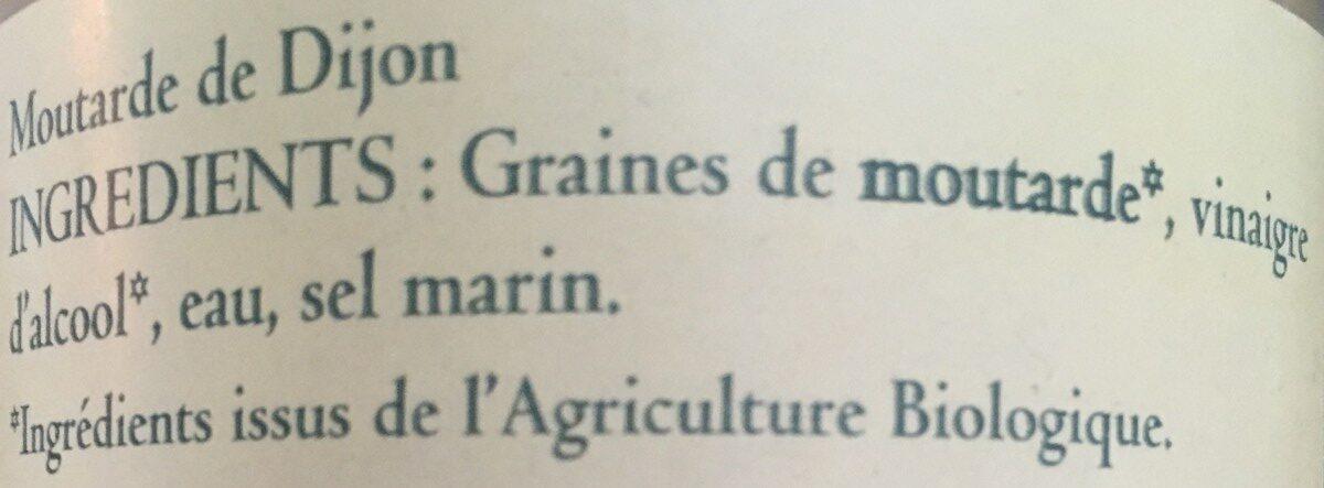Moutarde de Dijon - Ingrediënten