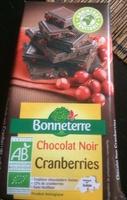 Chocolat noir cranberries - Product - fr