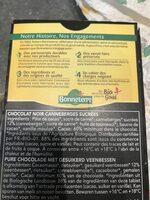 Chocolat noir cranberries - Ingrediënten - fr