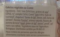 Galettes Végétales au Comté - Ingredients