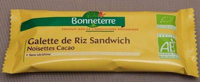Galette de Riz Sandwich Noisettes Cacao - Prodotto - fr