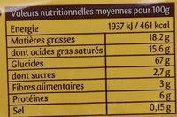 Galette de Riz Sandwich Noisettes Cacao - Valori nutrizionali - fr
