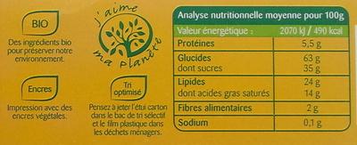 Palets normands aux pommes - Informations nutritionnelles