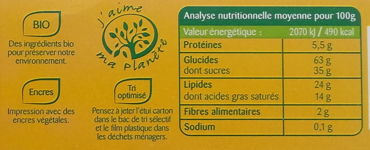 Palets normands aux pommes - Informations nutritionnelles - fr