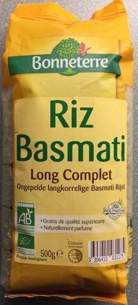 Riz Basmati complet - Product