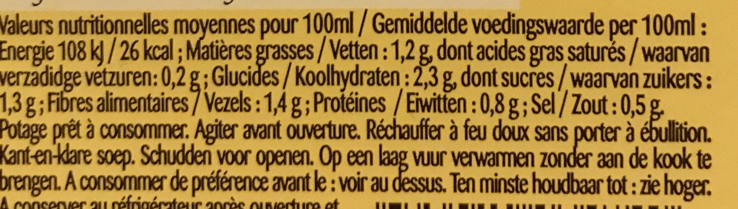 MOULINE DE LEGUMES VERTS - Voedingswaarden - fr