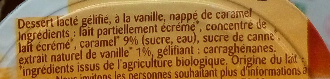 Flan Vanille Caramel - Inhaltsstoffe - fr