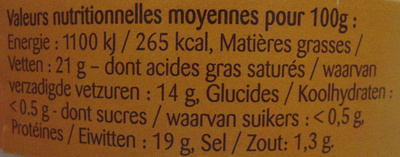 Camembert au Lait Pasteurisé - Voedigswaarden
