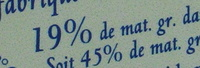 Pérail de Brebis (19% MG) - Voedingswaarden