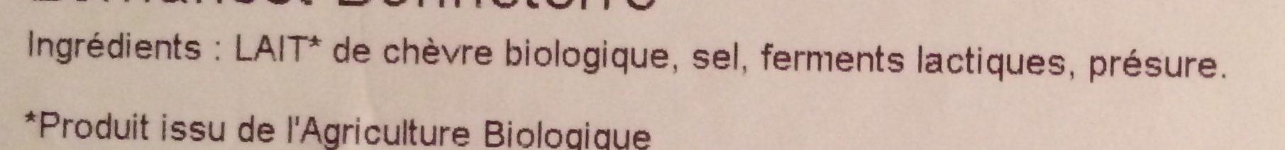 Fromage de Chèvre (21% MG) - Ingrédients - fr